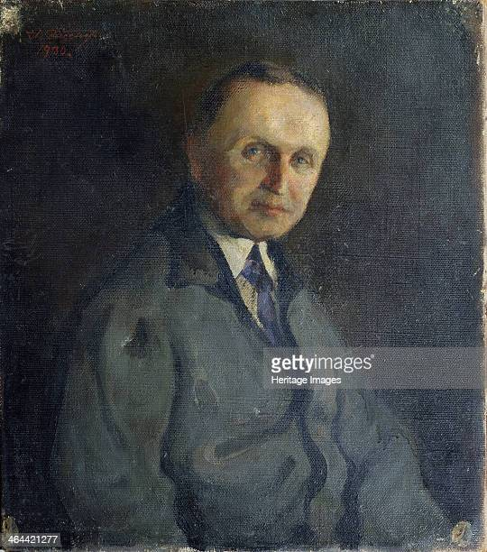 Portrait of the pianist Konstantin Igumnov 1930 Found in the collection of the State Central M Glinka Museum of Music Moscow