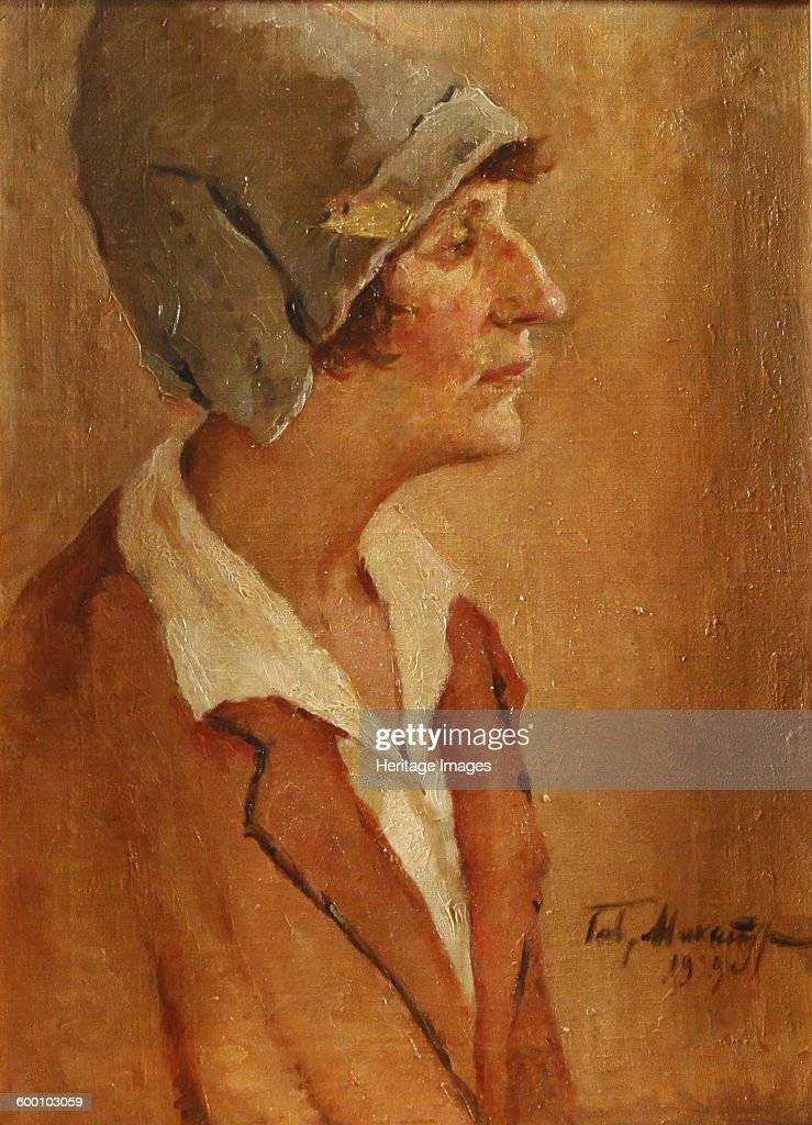 Portrait of the Poet Anna Akhmatova 1929 Private Collection Artist Makaturin Gavriil Petrovich