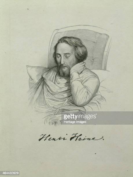 Portrait of the poet Heinrich Heine 1851 Found in the collection of the HeinrichHeineInstitut Düsseldorf