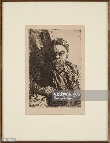 Portrait of the poet Paul Verlaine 1895 Artist Zorn Anders Leonard