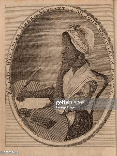 Portrait of the poet Phillis Wheatley 1773 Private Collection Artist Anonymous
