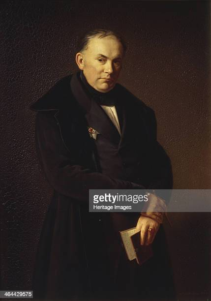 Portrait of the poet Vasily Zhukovsky , 1844. Found in the collection of the State Museum of A.S. Pushkin, Moscow.