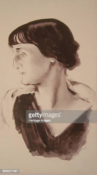 Portrait of the Poetess Anna Akhmatova 1928 Found in the collection of State Russian Museum St Petersburg Artist Tyrsa Nikolai Andreyevich
