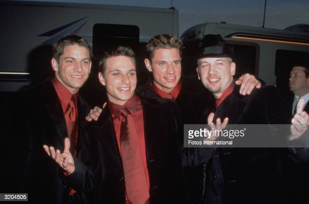 A portrait of the pop group 98 Degrees at the American Music Awards
