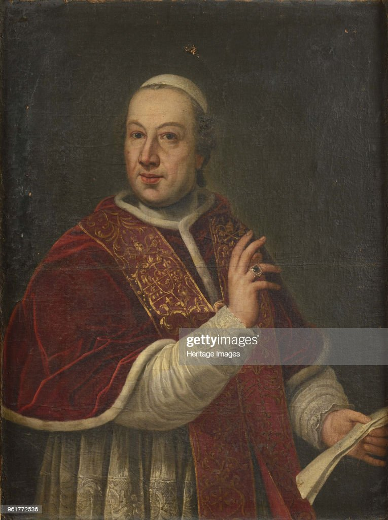 Portrait Of The Pope Pius Vi (1717-1799) : News Photo