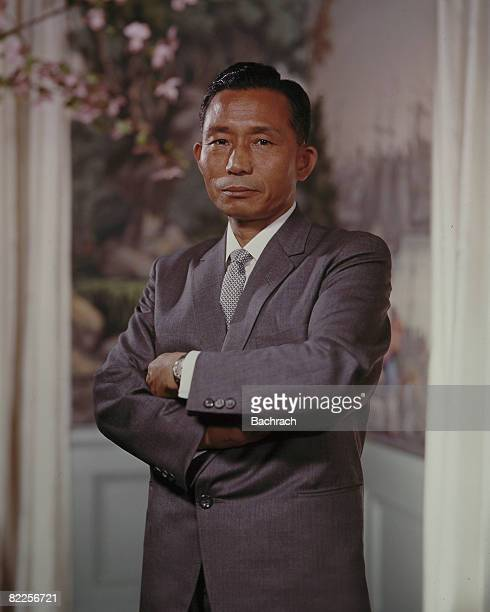 Portrait of the President of South Korea Park Chunghee standing with his arms folded across his chest United States 1960s Chunghee was a former...