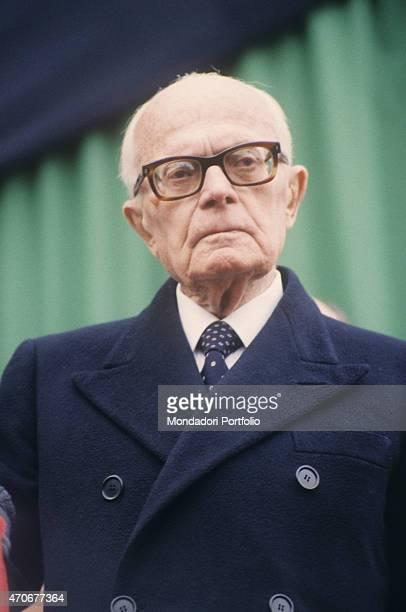 Portrait of the President of the Italian Republic Sandro Pertini 1980s