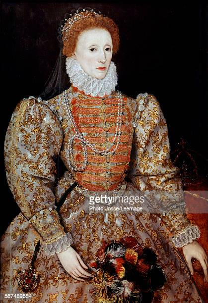 Portrait of the Queen Elizabeth I of England by Unknown continental artist Circa 1575 787 x113 cm National Portrait Gallery London