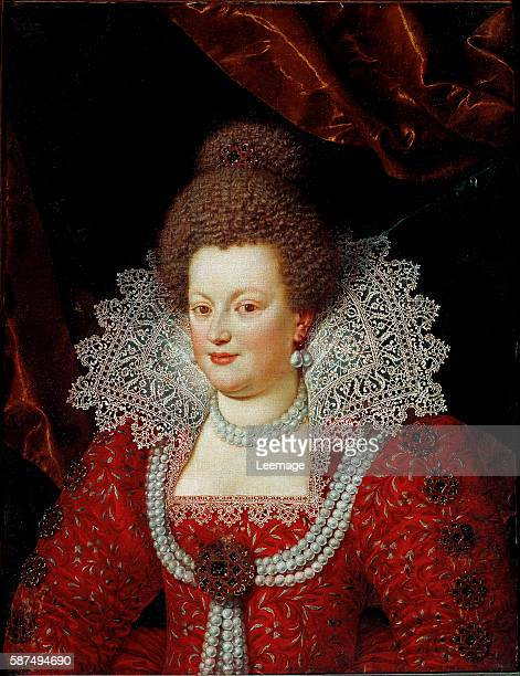 Portrait of the Queen of France Marie de' Medici Painting attributed to Frans Pourbus the younger ca 1610 oil on canvas Dim 83 x 627 cm Florence...