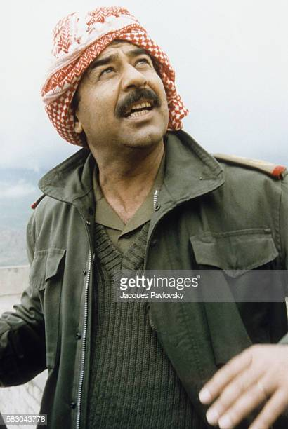 Portrait of the Raïs in military clothes during the IranIraq war