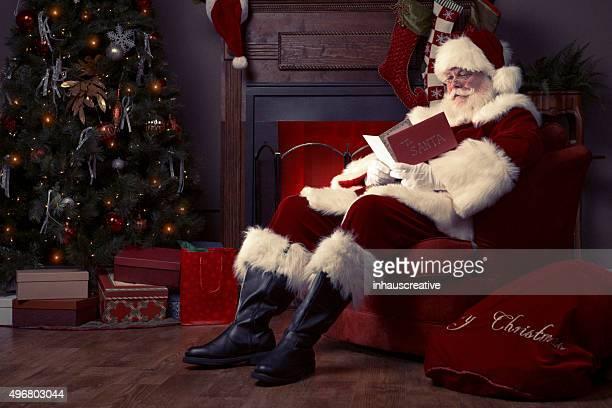 Portrait de l'équipe du Real de Santa Claus lire Carte de Noël