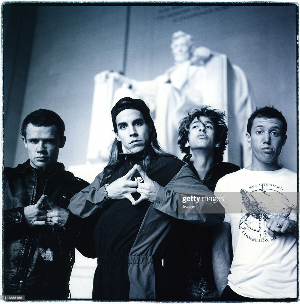 Portrait of The Red Hot Chili Peppers photographed in Washington in May 1988. 24203 - Exclusive