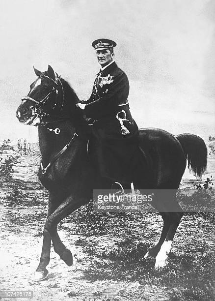 Portrait Of The Regent Miklos Horthy On A Horse In Hungary