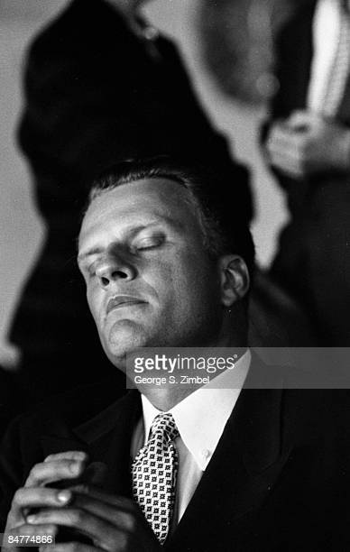 Portrait of the Reverend Billy Graham Baptist minister whose evangelical crusades and revivals have touched millions in the United States 1953 He is...