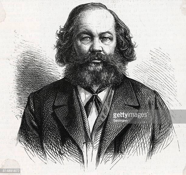 Portrait of the Russian anarchist Mikhail Aleksandrovich Bakunin
