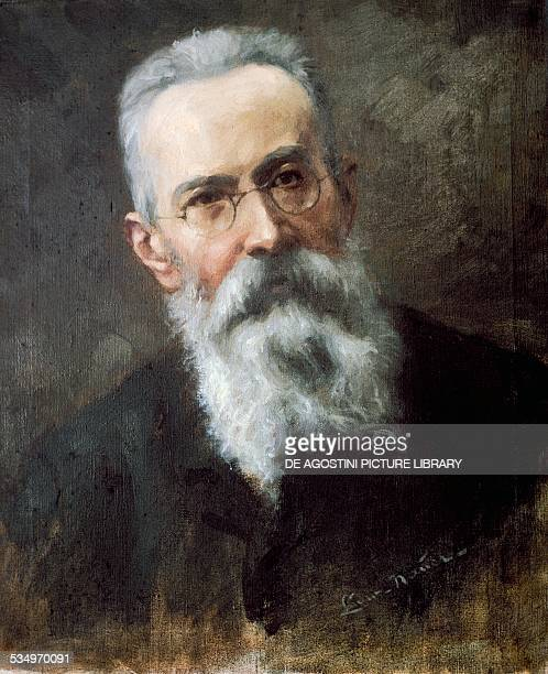 Portrait of the Russian composer Nikolai RimskyKorsakov painting