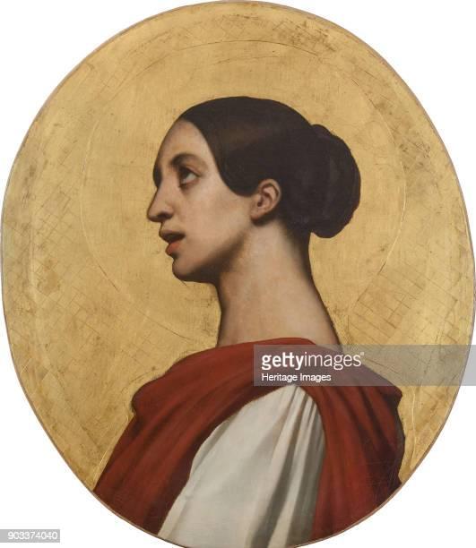 Portrait of the singer and composer Pauline Viardot as Saint Cecilia Found in the Collection of Musée de la Vie romantique Paris