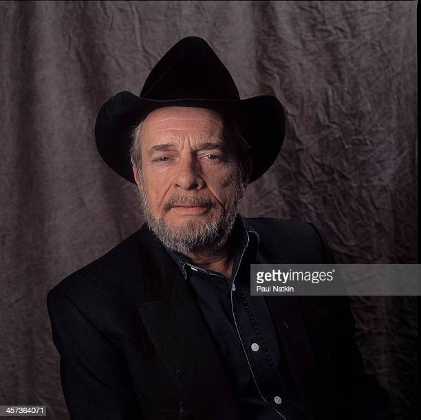 Portrait of the singer and musician Merle Haggard backstage at the Rosemont Horizon Rosemont Illinois October 27 1996