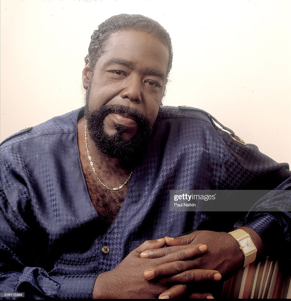 Portrait of the singer Barry White at the Regal Theater, Chicago, Illinois, June 1, 1990.
