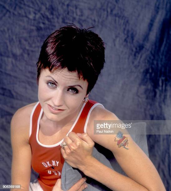 Portrait of the singer Dolores O'Riordan of the Cranberries at the World Music Theater in Tinley Park Illinois August 12 1996