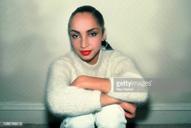 Portrait of the singer Sade at the Ambassador East Hotel in Chicago Illinois January 27 1985