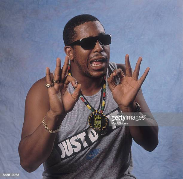 Portrait of the singer Tone Loc at the Rosemont Horizon Rosemont Illinois July 8 1989