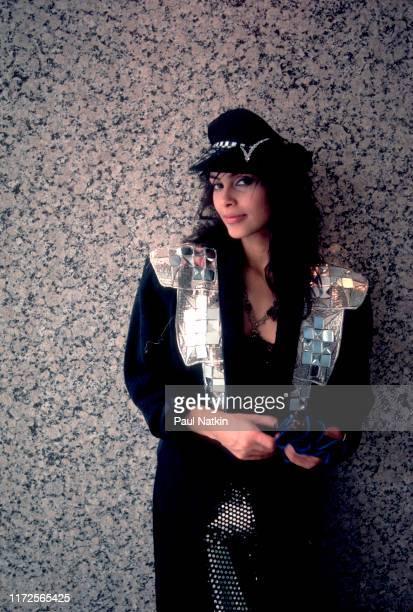 Portrait of the singer Vanity in Chicago Illinois April 3 1986