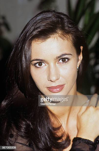 Portrait of the Spanish actress and TV presenter Arancha Del Sol, 15th December 1995, Madrid, Spain. .