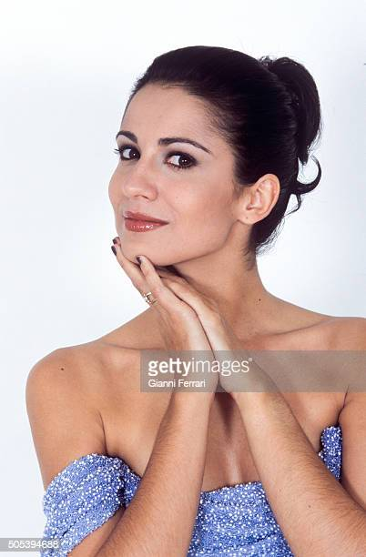 A portrait of the Spanish actress and TV presenter Silvia Jato in a photo shoot 16th December 1999 Madrid Spain