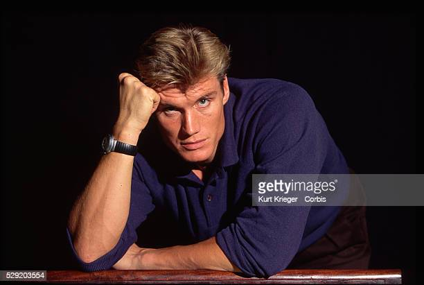A portrait of the Swedish actor Dolph Lundgren star of Rocky IV Cover Up and Universal Soldier taken in Munich Germany