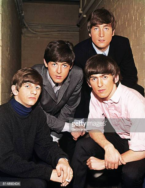 Portrait of the The Beatles. From left to right: Ringo Starr, Paul McCartney, John Lennon, and George Harrison, circa 1965.