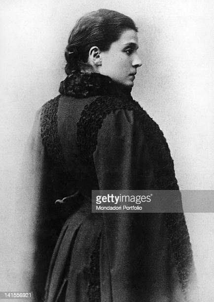 Portrait of the theatre actress Eleonora Duse Barcelona 1890