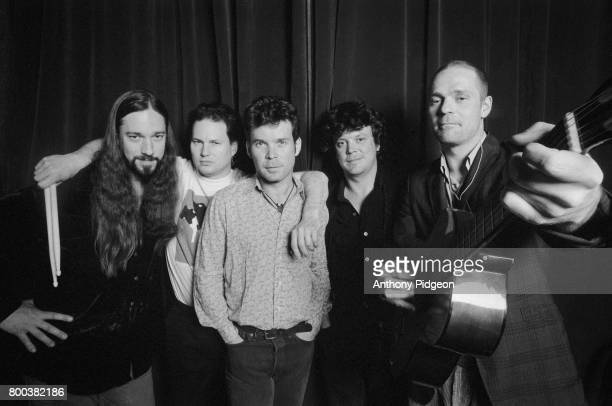 Portrait of The Tragically Hip backstage at The Fillmore in San Francisco California USA in April of 1999
