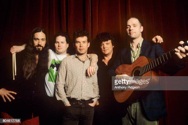 Portrait of The Tragically Hip backstage at The Fillmore in San Francisco California USA on 7th April 1999