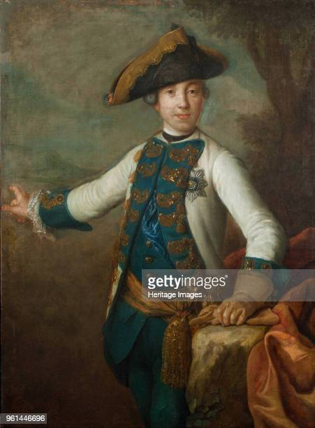 Portrait of the Tsar Peter III of Russia Early 1760s Found in the Collection of State History Museum Moscow