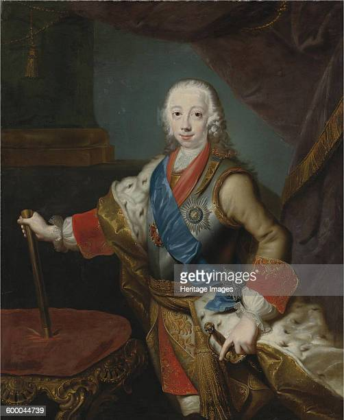Portrait of the Tsar Peter III of Russia . Private Collection. Artist : Grooth, Georg-Christoph .
