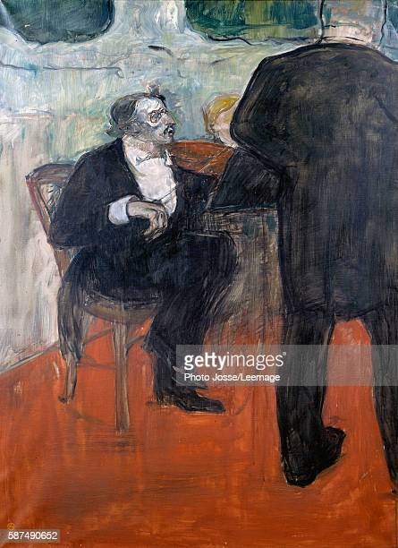 Portrait of the violinist Jean Baptiste Charles Dancla Painting by Henri de Toulouse Lautrec 1900 Private Collection
