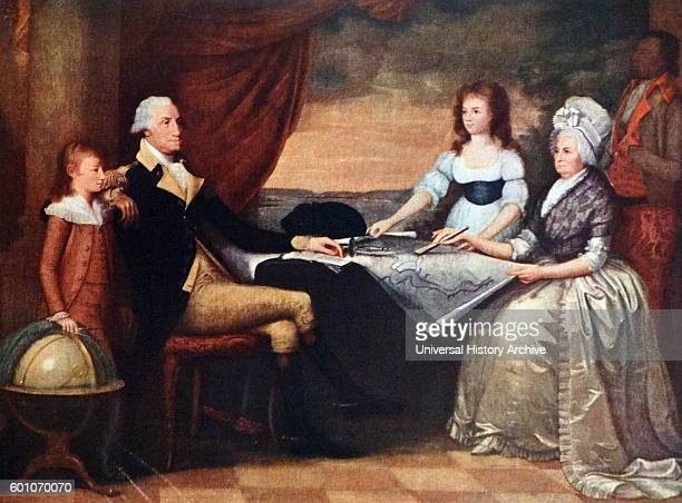 Portrait of The Washington Family by Edward Savage an American portrait painter and engraver Dated 19th Century