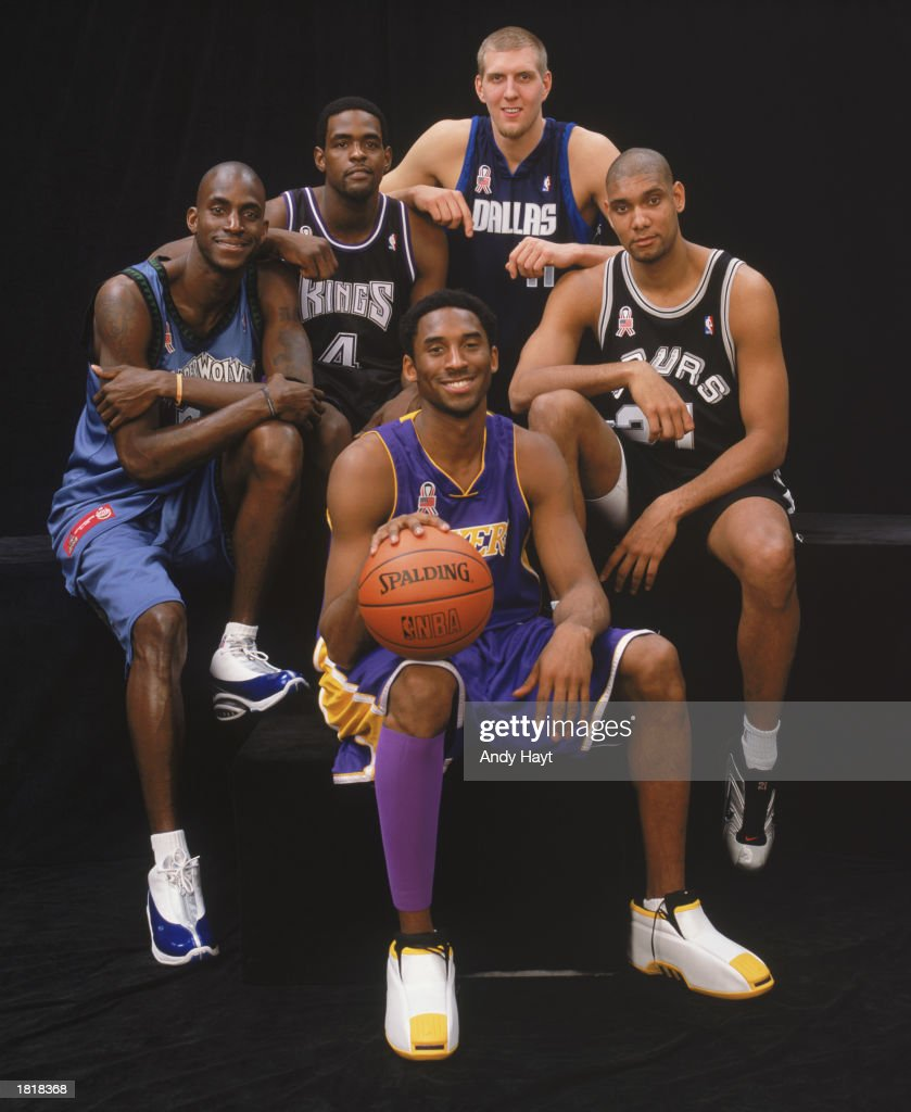 2002 All-Star Game Western Conference team : News Photo