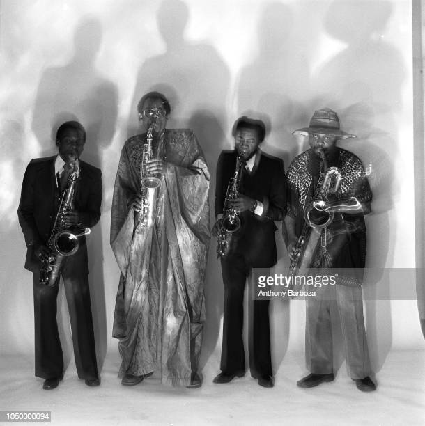 Portrait of the World Saxophone Quartet left to right David Murray Julius Hemphill Oliver Lake and Hamiet Bluiett New York January 23 1977