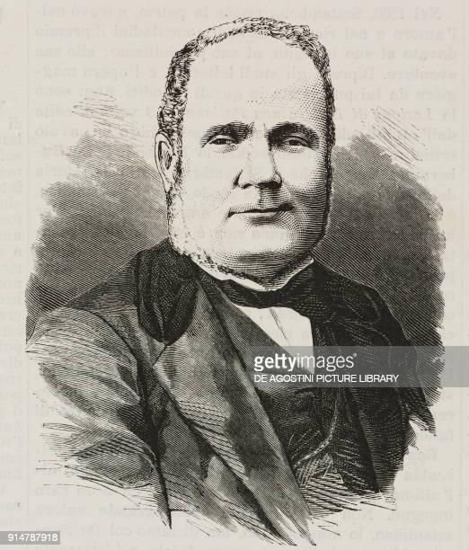 Portrait of the writer and patriot Luigi Settembrini illustration from the magazine L'Illustrazione Universale year 2 no 60 October 3 1875