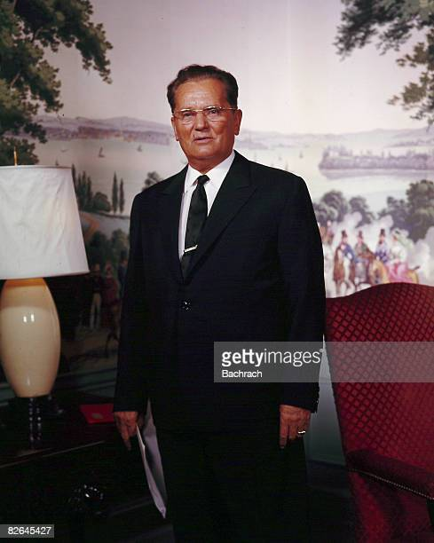 A portrait of the Yugoslavian Socialist President Josip Broz Tito Belgrade Yugoslavia 1963 Broz served as the second President of the Socialist...