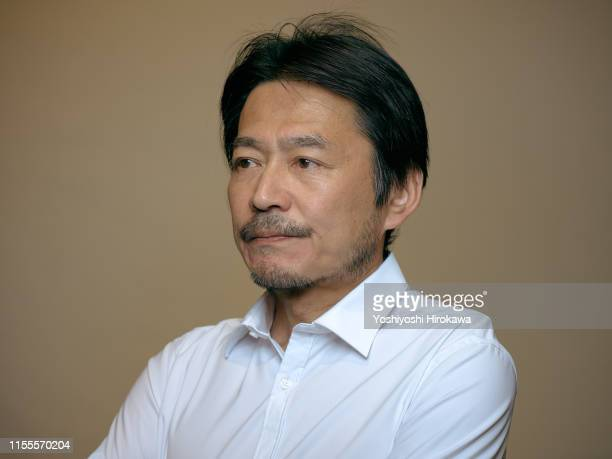 portrait of theatre actor - japanese old man stock pictures, royalty-free photos & images