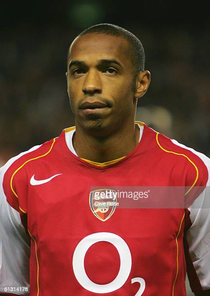 A portrait of Thierry Henry of Arsenal prior to the UEFA Champions League Group E match between Arsenal and PSV Eindhoven at Highbury on Septemner 14...