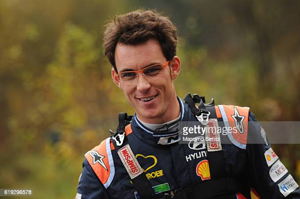 Portrait of Thierry Neuville of Belgium during Day Three of the WRC Great Britain on October 30 2016 in Deeside Wales