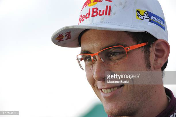 Portrait of Thierry Neuville of Belgium in the service park during Day Three of the WRC Germany on August 24 2013 in Trier Germany