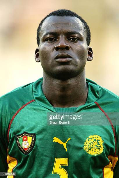 A portrait of Thimothee Atouba of Cameroon during the Confederations Cup Group B match between USA and Cameroon on June 23 2003 at the Stade Gerland...