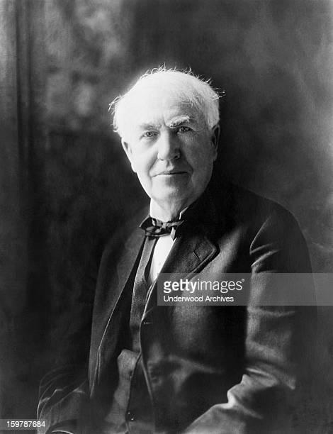 Portrait of Thomas Edison inventor c 1922