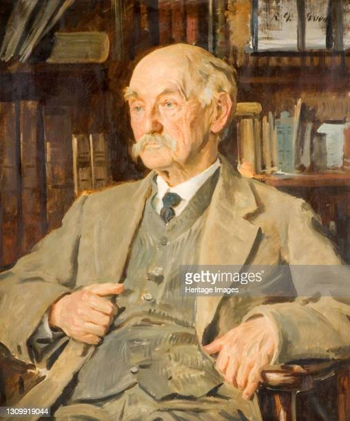 Portrait of Thomas Hardy , 1924. Thomas Hardy was an English novelist and poet. Artist Reginald Grenville Eves. .