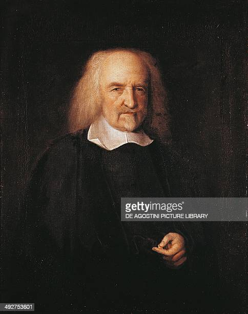 Portrait of Thomas Hobbes English philosopher 16691670 by John Michael Wright oil on canvas 66 x 54 cm London National Portrait Gallery
